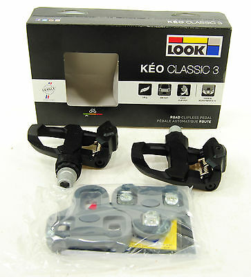 Keo Classic Pedal (2017 Look Keo Classic 3 Road Pedals & Cleat Set Black )
