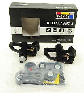 2017 Look Keo Classic 3 Road Pedals & Cleat Set Black