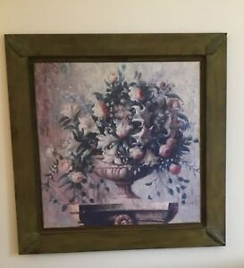 Large Floral Picture On Metal 4ftx4ft