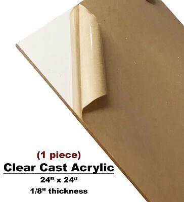 Clear Cast Acrylic Sheet 24x24x 18thick -high Density Plexiglass Cut To Size