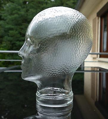 Vintage Glaskopf mit Noppenfrisur 70er Jahre für Kopfhörer - Hüte - Mützen etc..