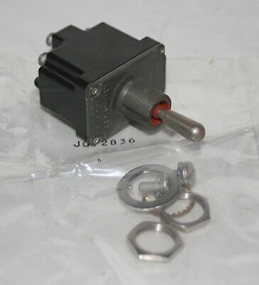 Sealed On-off-on Momentary Toggle Switch Honeywell 12tl1-7 Ms27735-27 Blk