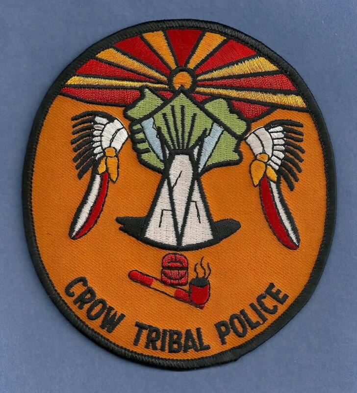 CROW MONTANA TRIBAL POLICE SHOULDER PATCH