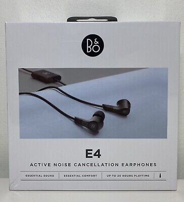Bang & Olufsen Beoplay E4 Active Noise Cancelling Earphones, Black