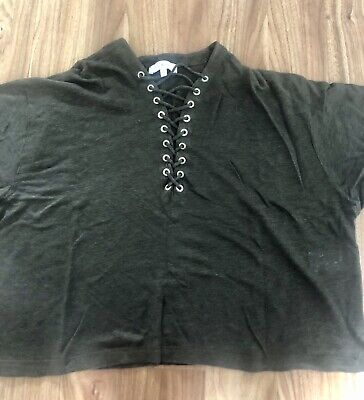 IRO Grey Top Size Small Perfect Condition Loose Fit Net A Porter