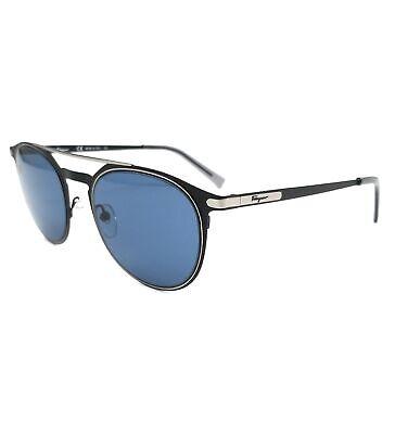 Salvatore Ferragamo Sunglasses SF186S 002 Matte Black Round Men 52x21x145