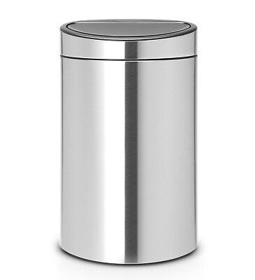 Matt Steel Touch Bin (brabantia Mülleimer Touch Bin 40 Matt Steel Abfallsammler Mülltonne Mistkübel)