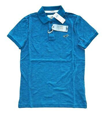 New Hollister By Abercrombie Men's Icon Polo All Sizes with Epic Flex Comfort