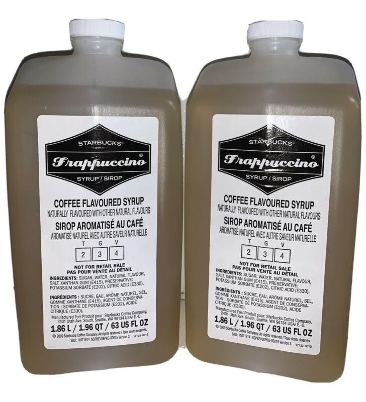 Starbucks (2-Pack) Frappuccino Syrup 63fl oz Coffee Flavored Beverage Base
