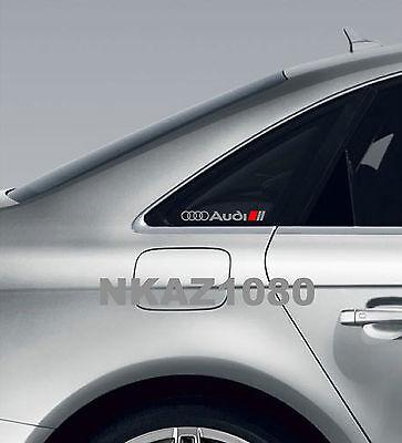 AUDI Vinyl Decal sticker Sport Racing window emblem SILVER/RED for sale  USA