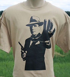 Humphrey bogart t shirt casablanca maltese falcon for Film noir t shirts
