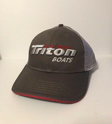 TRITON BOATS GRAPHITE CAP BASS FISHING HATS HEADWEAR APPAREL CLOTHING NEW