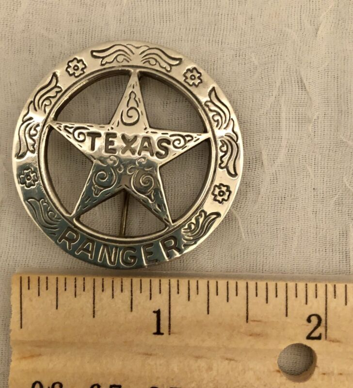 VGT Replica Texas Rangers Badge, Cleaned,New Old Stock,  In Storage For 20yrs