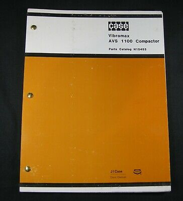 Case Avs 1100 Vibratory Plate Compactor Parts Manual Book List Catalog Avs1100