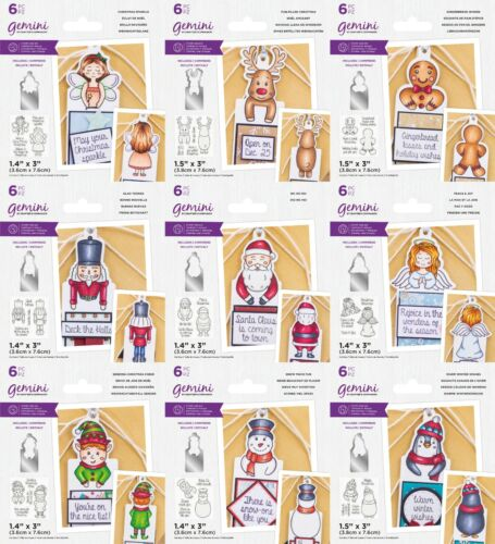 NEW 2021 Gemini Character Front & Back Gift Tags Collection Crafters Companion