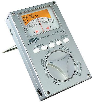 KORG Studio Pro Tuner OT-120 chromatic plus Korg Pickup CM 200 Kontaktmikro