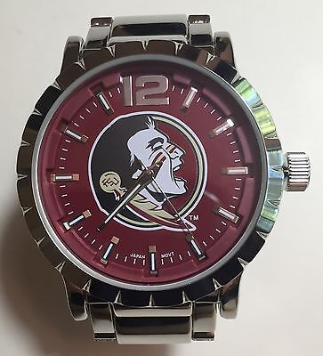 Florida State Watch (New Florida State Seminoles Mens Watch, Bracelet, Metal,Gift for Him)