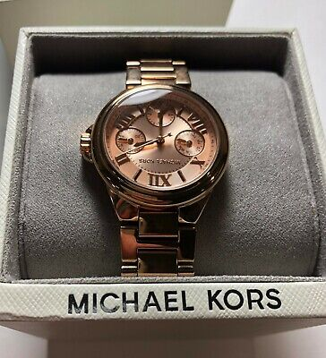 Michael Kors Women's Mini Bailey Rose Gold Tone Stainless Steel Watch MK6447