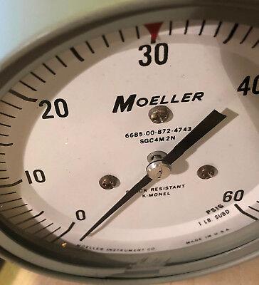 Moeller Pressure Gauge 0-60 Psi 4.5 6685-00-872-4743 Sgc4m2n