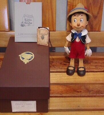 R. John Wright Wooden Pinocchio Doll