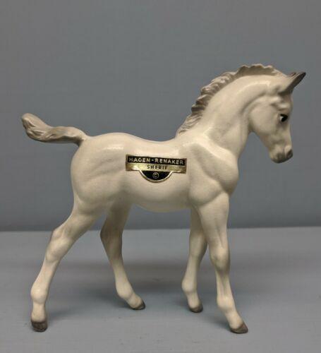 Beautiful Hagen Renaker White Arabian Foal Sherif Nice Detail & Sticker