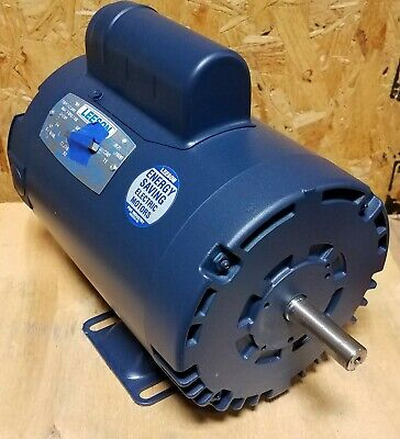 New Leeson 2 Hp Single Phase Compressor Duty Motor 110232.00  58 Shaft