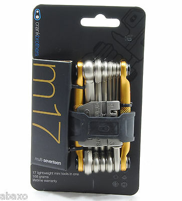 Crank Brothers M17 MTB Mountain Bike Take-Along Multi-Tool Gold (Best Mountain Bike Multi Tool)