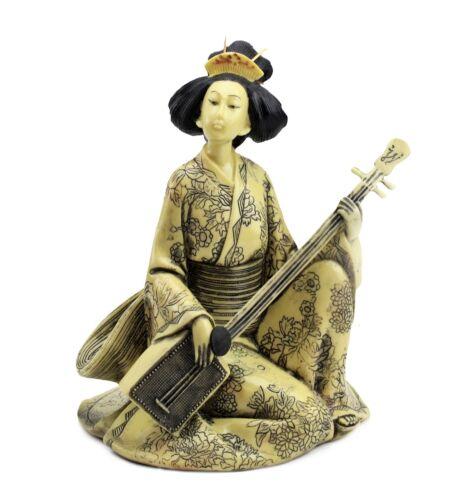Japanese Okimono Geisha 芸者 げいしゃ Figurine Statue For Home Office Decor