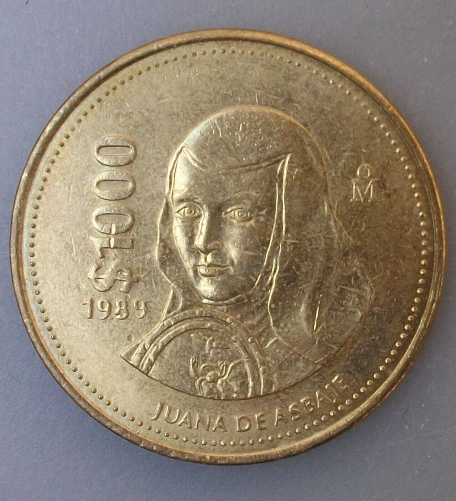 1989 1000 PESOS Thousand MEXICO World Uncirculated LARGE BU COIN Poqiqy - $3.99