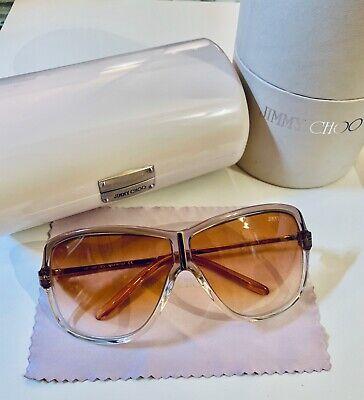 Jimmy Choo Sunglasses JIMMY/S 0NWK 02 Nude/Gold Metal Rose/Brown Gradient Lenses