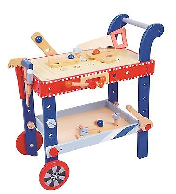 Lelin Wooden DIY Builder Tools Workbench Table Set For Childrens Pretend (Fun Builder Table)
