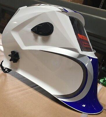 Blu500 Solar Auto Darkening Shade 9 To 13 Weldinggrinding Helmet 4 Sensors Hood
