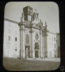 Glass-Magic-lantern-Slide-CHURCH-OF-S-CROCE-IN-GERUSALEMME-ROME-C1890-ITALY