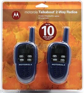 BRAND NEW Motorola FV300 2-Way Radio Walkie Talkies 10-Mile Range