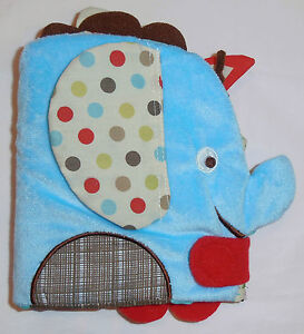 Cloth Book - 'Skip Hop' Animals - Textures & Teether & Mirror - Brand New