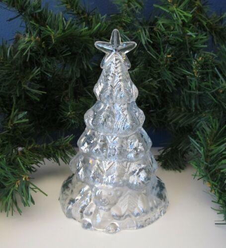 "Vintage Iridescent Carnival Glass 6"" Christmas Tree Teddy Bear"