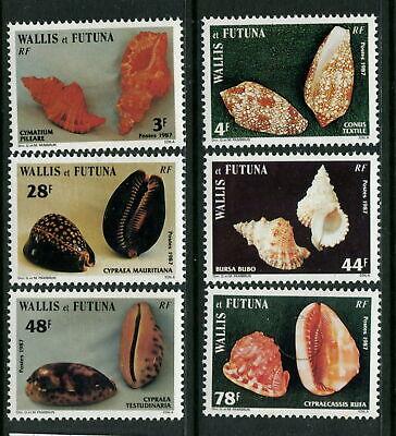 WALLIS & FUTUNA -1987 'SEA SHELLS' Series VI Set of 6 MNH SG 510-515 [A6485]