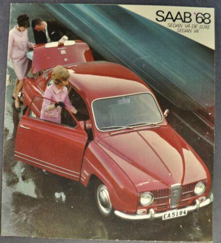 1968 Saab V4 Sedan Sales Brochure Folder Original 68