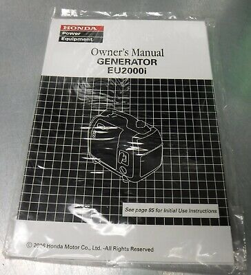 Honda Eu2000i Generator Owners Manual 51z40a00
