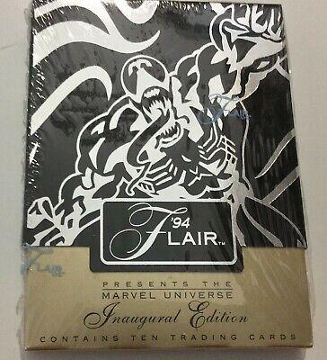 FLEER FLAIR 94 EDIZIONE INAUGURALE UNIVERSO MARVEL, VENOM 10 CARDS MARVEL COMICS