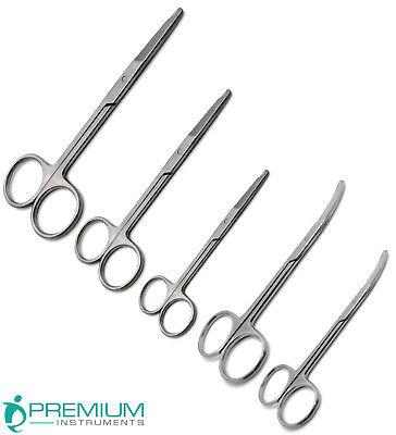 Littauer Suture Straight 3.5 4.5 5.5 Northbent 3.5 4.5 Set Of 5 Scissors