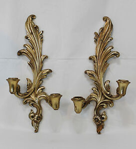 Syroco Wood Sconce in Decorative Wall Hangings and Mirrors | eBay
