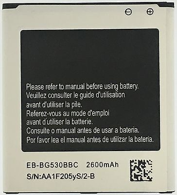 Battery for Samsung Galaxy ON5 SM-G550 MetroPcs EB-BG530BBC + Charger + Telegraph