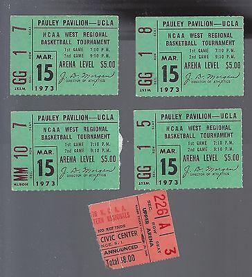 1973 Ncaa Basketball West Regional Tickets Stubs March 15   Ucla Bruins  4