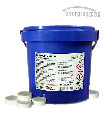 5 kg Chlor Multitabs 5 in 1 200g Chlortabletten inkl. Klareffekt
