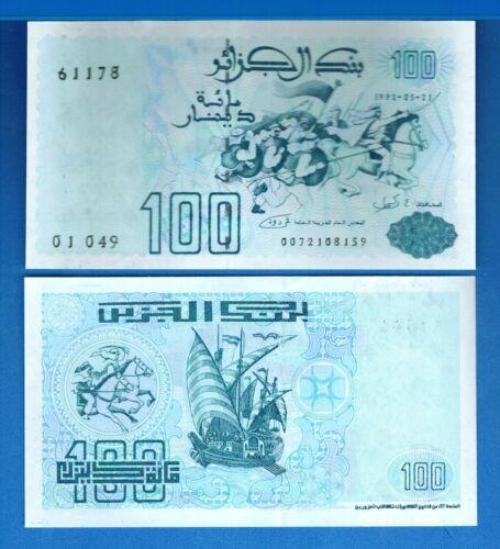 Algeria P-137 100 Dinars Year 1992 Uncirculated Banknote Africa