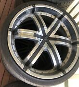 """4 DIABLO rims with brand new tyres 24"""" Edgeworth Lake Macquarie Area Preview"""