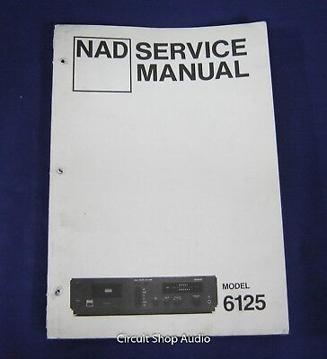 Original NAD 6125 Cassette Deck Service Manual for sale  Shipping to Canada