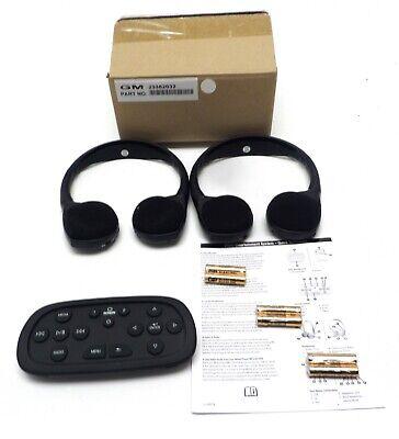 GM Wireless Headphones DVD Video Entertainment Set Escalade Suburban Tahoe Yukon