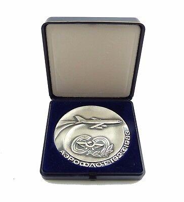 #e8170 Russische Medaille 60 Jahre Aeroflot 1923-1983